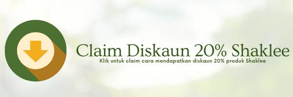 claim diskaun 20% Shaklee