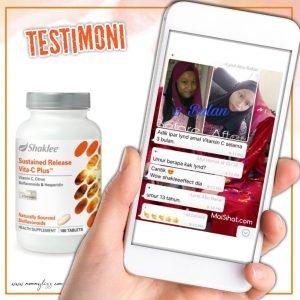 testimoni vitamin c shaklee kulit cerah