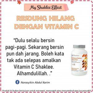 testimoni vitamin c shaklee resdung
