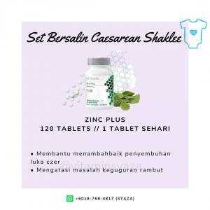 zinc plus shaklee set czer caesarean