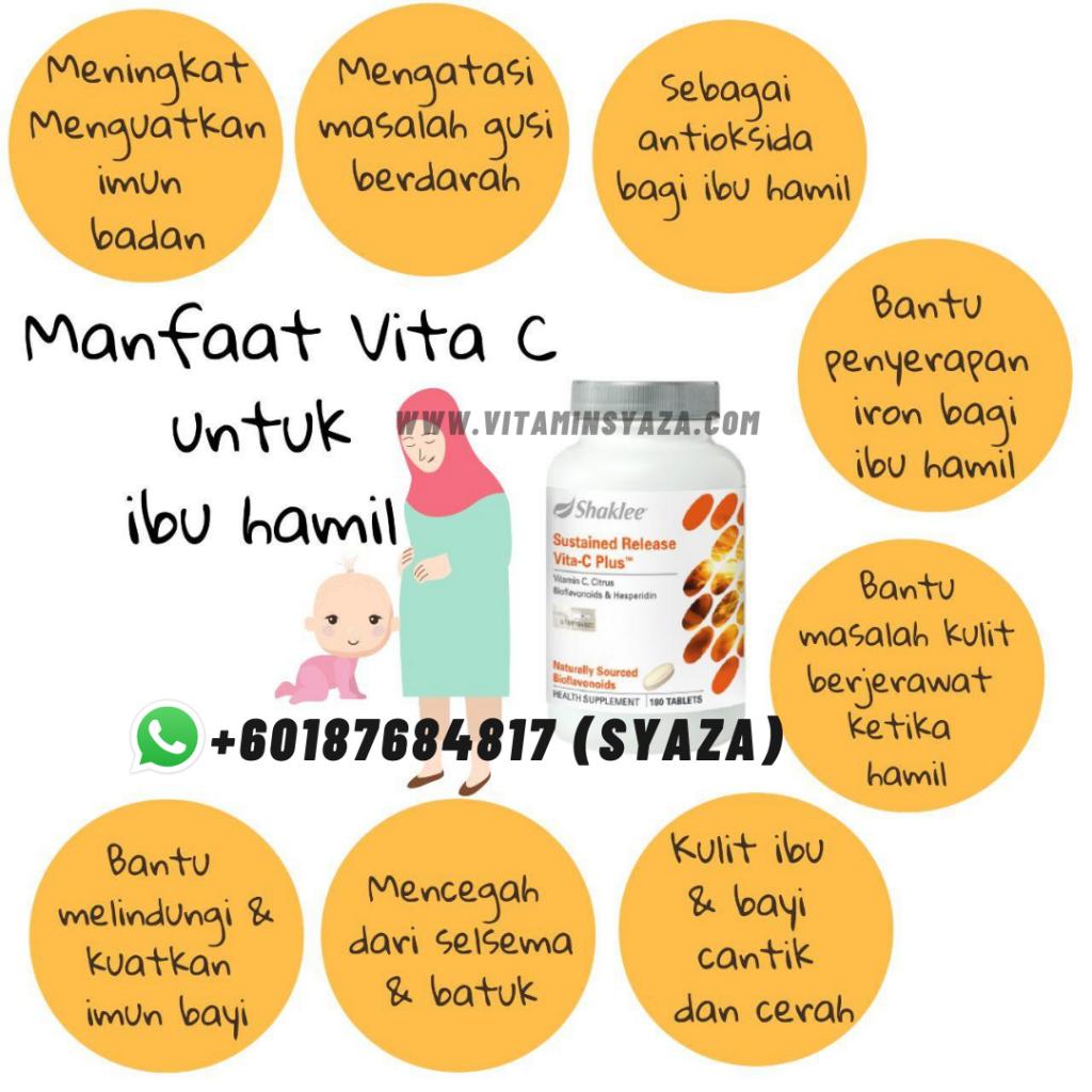 fungsi manfaat vitaminc Set Hamil Shaklee untuk ibu mengandung