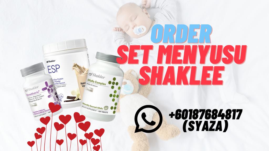 order set menyusu shaklee