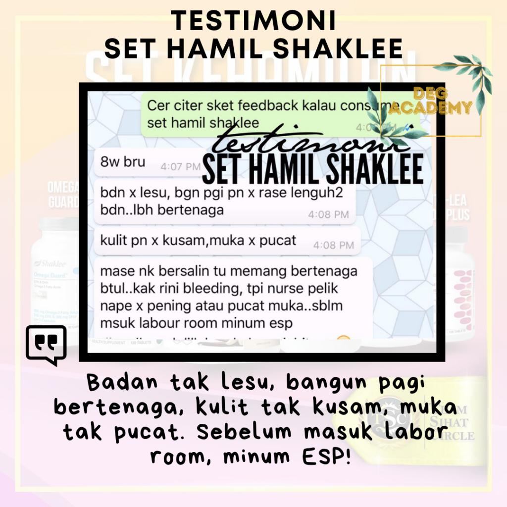 testimoni set hamil shaklee lengkap fullset 1