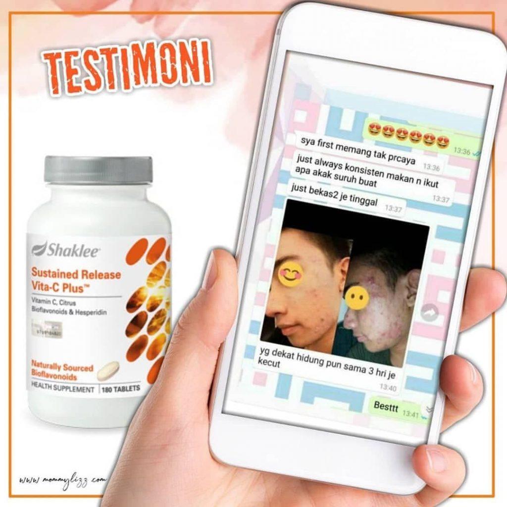 testimoni vitamin c shaklee jerawat