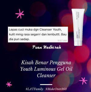 testimoni youth luminous gel oil cleanser shaklee